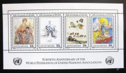 Poštovní známky OSN New York 1986 Umìní Mi# Block 9
