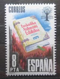 Poštovní známka Španìlsko 1979 Autonomie Baskicka Mi# 2439