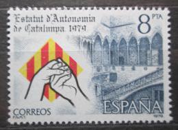 Poštovní známka Španìlsko 1979 Autonomie Katalánska Mi# 2438