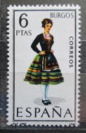 Poštovní známka Španìlsko 1967 Lidový kroj Burgos Mi# 1709