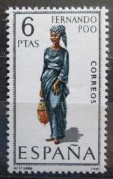 Poštovní známka Španìlsko 1968 Lidový kroj Fernando Póo Mi# 1758