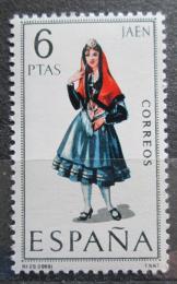 Poštovní známka Španìlsko 1969 Lidový kroj Jaen Mi# 1794