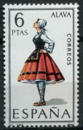 Poštovní známka Španìlsko 1967 Lidový kroj Alava Mi# 1662