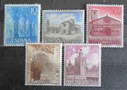 Poštovní známky Španìlsko 1966 Pamìtihodnosti Mi# 1636-40