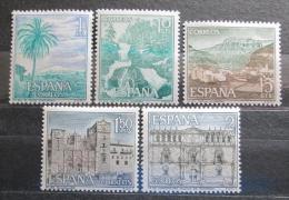 Poštovní známky Španìlsko 1966 Pamìtihodnosti Mi# 1616-20