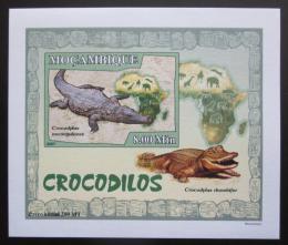 Poštovní známka Mosambik 2007 Krokodýli DELUXE neperf. Mi# 2985 B Block