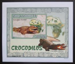 Poštovní známka Mosambik 2007 Krokodýli DELUXE neperf. Mi# 2986 B Block