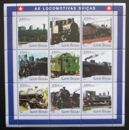 Poštovní známky Guinea-Bissau 2001 Švýcarské lokomotivy Mi# 1818-26 Kat 13€