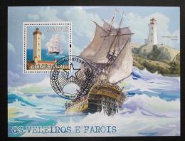 Poštovní známka Guinea-Bissau 2009 Plachetnice a majáky Mi# Block 713 Kat 14€