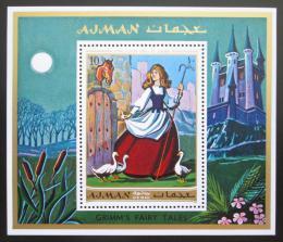 Poštovní známka Adžmán 1971 Pohádka bratøí Grimmù Mi# Block 304 A Kat 6€