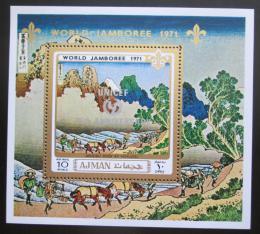 Poštovní známka Adžmán 1971 Skautské setkání pøetisk Mi# Block 289 A Kat 6.50€