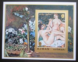 Poštovní známka Adžmán 1971 Umìní, akty, Renoir neperf. Mi# Block 278 B Kat 13€