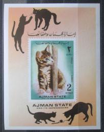 Poštovní známka Adžmán 1972 Koèky Mi# Block 400