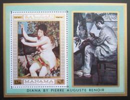 Poštovní známka Manáma 1970 Umìní, Pierre-Auguste Renoir Mi# Block 60 A Kat 9€