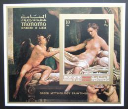 Poštovní známka Manáma 1971 Umìní, Antonio Corregio neperf Mi# Block 127 B Kat 9€