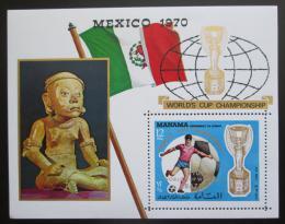 Poštovní známka Manáma 1970 MS ve fotbale pøetisk Mi# Block 62 A