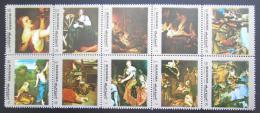 Poštovní známky Manáma 1972 Umìní Mi# 960 a A - I 960 a A