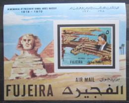 Poštovní známka Fudžajra 1970 Asuánská pøehrada neperf. Mi# Block A 27 B