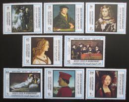 Poštovní známky Aden Qu'aiti 1967 Umìní, Rok turistiky Mi# 169-76 Kat 15€