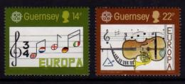 Poštovní známky Guernsey, Velká Británie 1985 Evropa CEPT, rok hudby Mi# 322-23