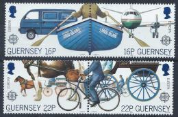 Poštovní známky Guernsey, Velká Británie 1988 Evropa CEPT, doprava Mi# 417-20