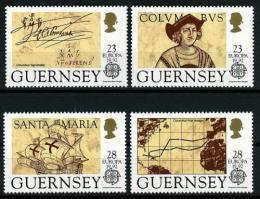 Poštovní známky Guernsey, Velká Británie 1992 Evropa CEPT, Kolumbus Mi# 549-52