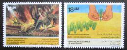 Poštovní známky Mauritánie 1985 Boj proti suchu Mi# 842-43 Kat 6€