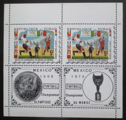 Poštovní známky Èad 1970 MS ve fotbale a LOH Mexiko Mi# 307 A Bogen