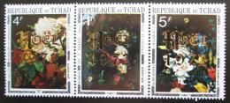 Poštovní známky Èad 1972 Umìní, pøetisk vánoce Mi# 607-09 Kat 5.50€