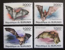 Poštovní známky Burundi 2011 Netopýøi Mi# 2046-49 Kat 9.50€
