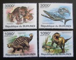Poštovní známky Burundi 2011 Dinosauøi Mi# 2102-05 Kat 9.50€
