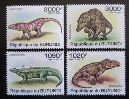 Poštovní známky Burundi 2011 Prehistoriètí krokodýli Mi# 2070-73 Kat 9.50€