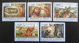 Poštovní známky Burundi 2013 Život v pravìku Mi# 3253-57 Kat 9.90€