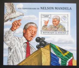 Poštovní známka Burundi 2013 Nelson Mandela neperf. Mi# Block 379 B