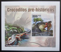 Poštovní známka Poštovní známka Guinea-Bissau 2010 Prehistoriètí krokodýli DELUXE Mi# 5211 B Block