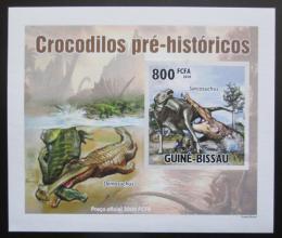 Poštovní známka Guinea-Bissau 2010 Prehistoriètí krokodýli DELUXE Mi# 5212 B Block