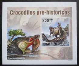 Poštovní známka Guinea-Bissau 2010 Prehistoriètí krokodýli DELUXE Mi# 5213 B Block