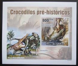 Poštovní známka Guinea-Bissau 2010 Prehistoriètí krokodýli DELUXE Mi# 5214 B Block