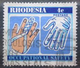 Poštovní známka Rhodésie, Zimbabwe 1975 Bezpeènost práce Mi# 167