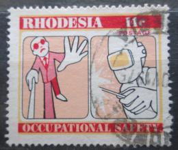 Poštovní známka Rhodésie, Zimbabwe 1975 Bezpeènost práce Mi# 169