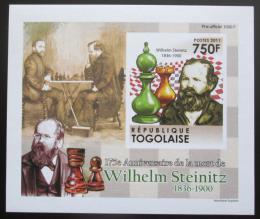 Poštovní známka Togo 2011 Wilhelm Steinitz neperf. Mi# 4010 B Block