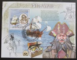 Poštovní známka Guinea-Bissau 2009 Piráti Karibiku Mi# Block 734 Kat 13€