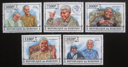 Poštovní známky Burundi 2013 Nelson Mandela Mi# 3273-77 Kat 10€