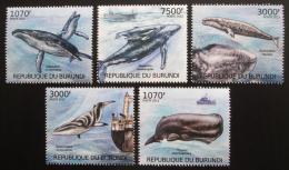 Poštovní známky Burundi 2012 Velryby Mi# 2605-09 Kat 9.50€