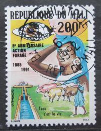 Poštovní známka Mali 1991 Zavlažovací kanál Mi# 1138