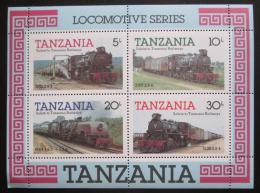 Poštovní známky Tanzánie 1985 Lokomotivy Mi# Block 44