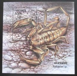 Poštovní známka Tanzánie 1994 Škorpion Mi# Block 255