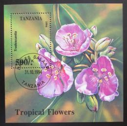 Poštovní známka Tanzánie 1994 Tropické kvìtiny Mi# Block 263