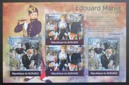 Poštovní známky Burundi 2012 Umìní, Edouard Manet DELUXE Mi# 2315-16 Kat 10€