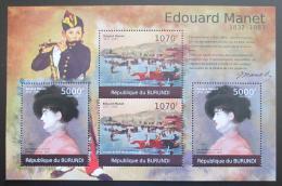 Poštovní známky Burundi 2012 Umìní, Edouard Manet DELUXE Mi# 2317-18 Kat 10€